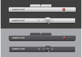 Set di barre dei menu vettoriali
