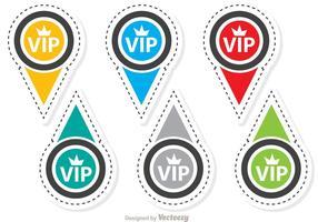 pacchetto di icone vettoriali di badge vip