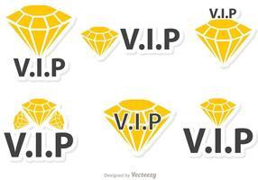 pacchetto di icone vettoriali di diamante vip