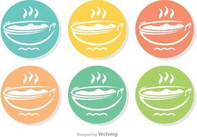 Pacchetto di icone colorate Pan vettoriale