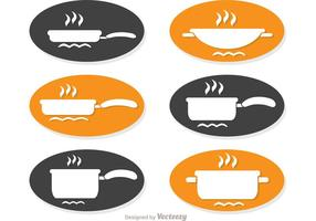 Cucinare Set semplice icone vettoriali Pack