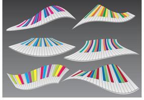 colorato piano ondulato