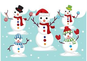 Vettori di pupazzi di neve