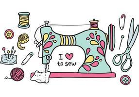 Vettore vintage macchina da cucire gratis