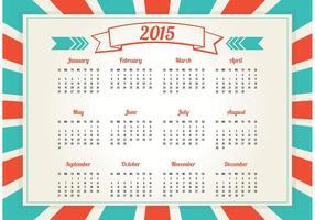 Calendario stile retrò 2015