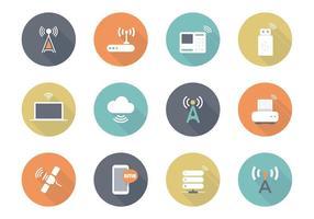 Icone vettoriali piatto wireless gratuito