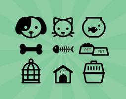 Icone dell'animale domestico vettore