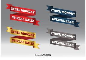Insieme della bandiera di vendita di Cyber lunedì