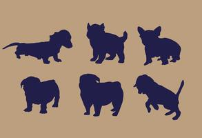 Vector Puppy Silhouettes