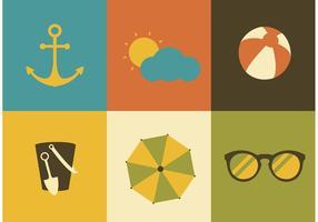 Vettori di icone di estate