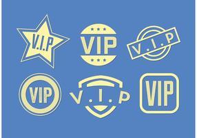 Set di vettori icona Vip