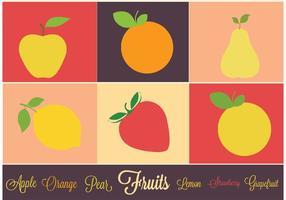 Vector Icon Set di frutta
