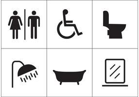 Icone di vettore di restroom