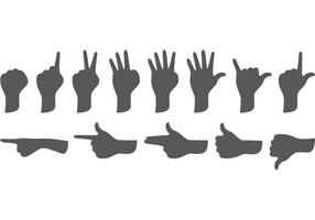 Forme di mani vettore
