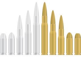 Pallottole d'oro e d'argento vettore
