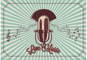 vettore di microfono vintage