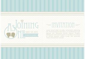 Vettore gratuito Salva l'invito della data