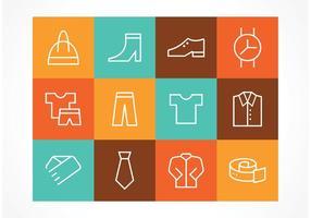 Icone vettoriali gratis moda di contorno