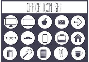 Set di icone vettoriali gratis ufficio