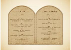 Vettore di 10 comandamenti gratis