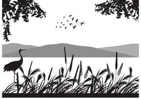 Sfondo vettoriale gratuito stormo di uccelli