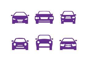 Sagome di auto viola anteriore