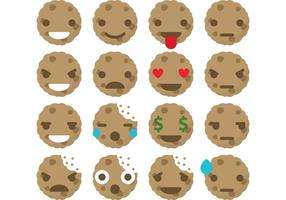 Vettori di emoticon di biscotti