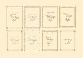 Vettori decorativi telaio vintage