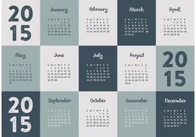Calendario 2015 vettore