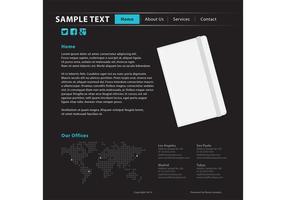 Modello di sito Web di scrittura di notebook vettore