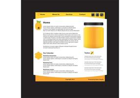 Modello di sito Web prodotto naturale vettore