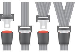 Vector pacchetto cintura di sicurezza