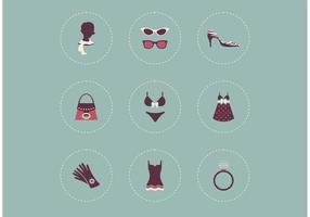Icone vettoriali gratis abbigliamento femminile