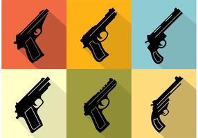Icone di raccolta di pistola vettore
