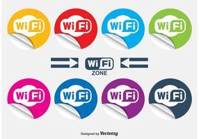WiFi arricciato adesivi vettore