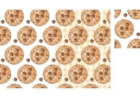 Modello senza cuciture dei biscotti di pepita di cioccolato di vettore