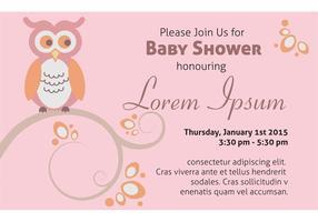 Modello di scheda dell'invito della doccia di bambino