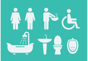 Simboli e icone della stanza di riposo vettore