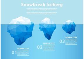 Iceberg poligonale sott'acqua vettore