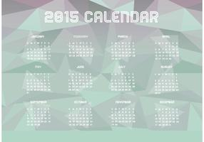 Calendario poligonale 2015 vettore