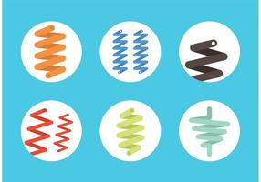 Set vettoriale di molla a spirale