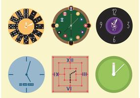 Vettori di orologio decorativi