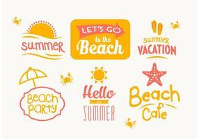 Vector Distintivi di estate