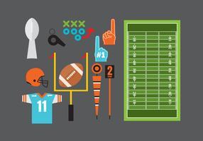 Elementi di calcio piatto vettoriale