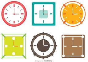Pacchetto di orologi colorati vettore