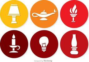 Pacchetto di icone di luce vettoriale