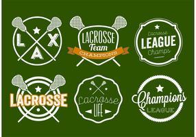 Set di etichette Lacrosse vettore