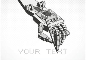 mano robot vettoriale