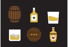 Icone di vettore di whisky