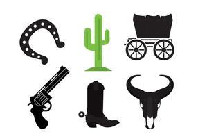 Icone di selvaggio west